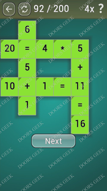 Math Games [Beginner] Level 92 answers, cheats, solution, walkthrough for android