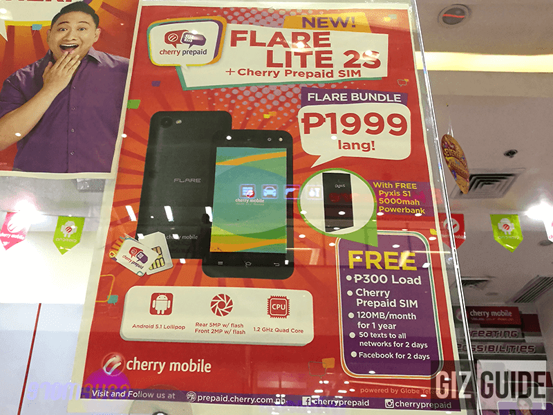 Cherry Mobile Flare Lite 2S spotted