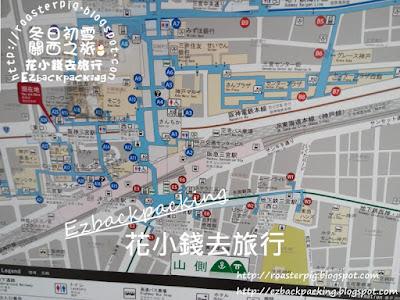 背包豬@三宮車站出口位置圖