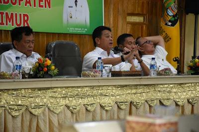 Penyerapan Anggaran Minim, Sekdakab Lampung Timur Tegur Bawahan