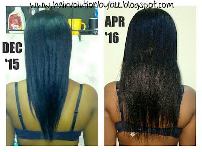 length check texlaxed hair