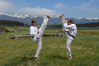 Practicing martial arts has many benefits, including building confidence and self esteem in adults and children