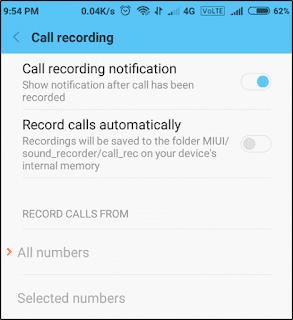Record call.