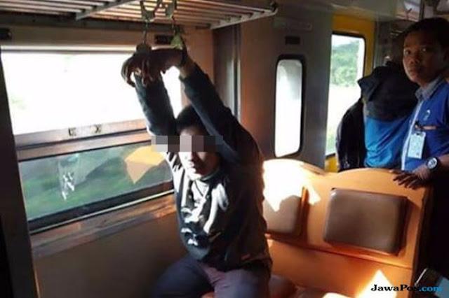 Gegara Melecehkan Mahasiswi, Mahasiswa asal Solo Ini Diborgol di Kereta Prameks