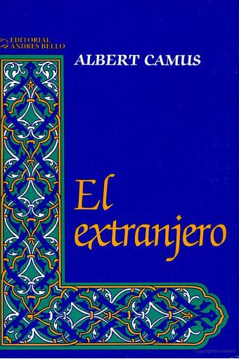 Albert Camus. El extranjero.