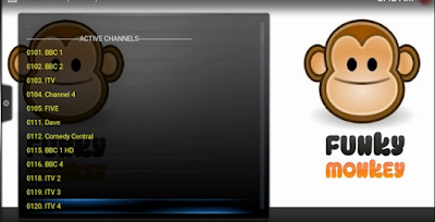 Watch World Live TV Movies TV shows on Funky Monkey kodi addon