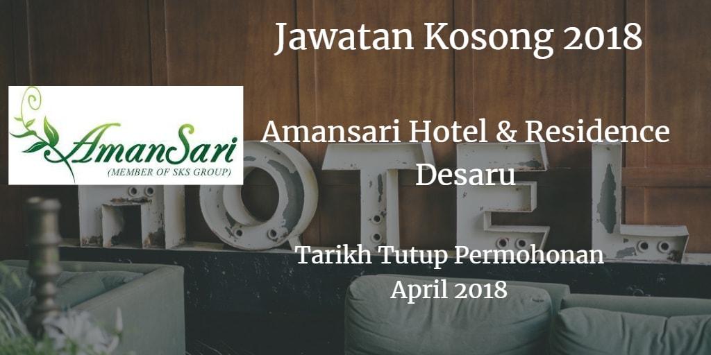 Jawatan Kosong AmanSari Hotel Desaru/AmanSari Residence Desaru April 2018
