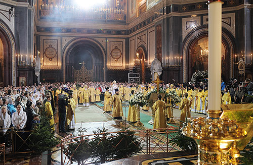 Christmas in the Cathedral of Christ the Savior