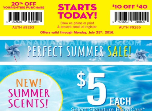 Bath & Body Works 20% Off + $10 Off Coupons