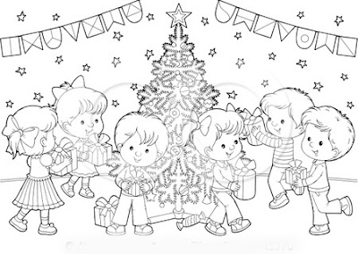 Christmas Eve Printable Kids Coloring Pages