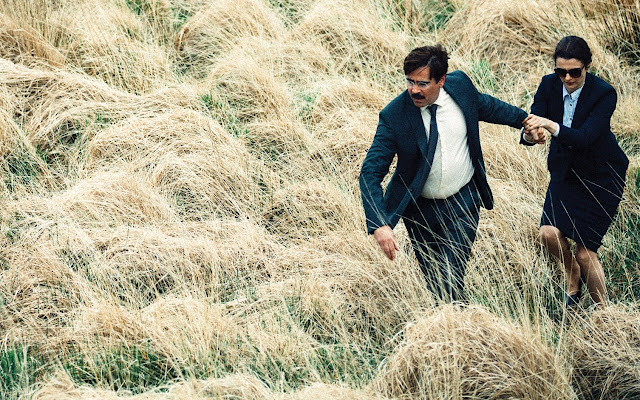 "Colin Farrell and Rachel Weisz in ""The Lobster"""