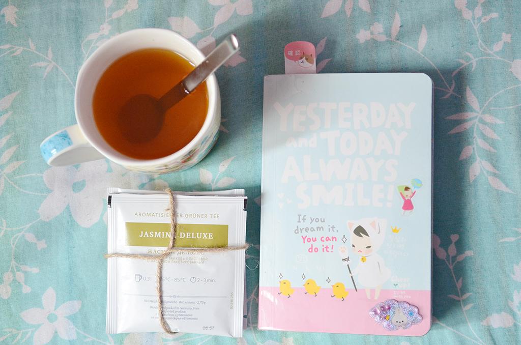 ceai jasmine deluxe agenda yesterday and today always smile