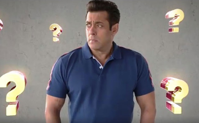 The new promotional version of Salman Khan's show, says '... keep guessing'