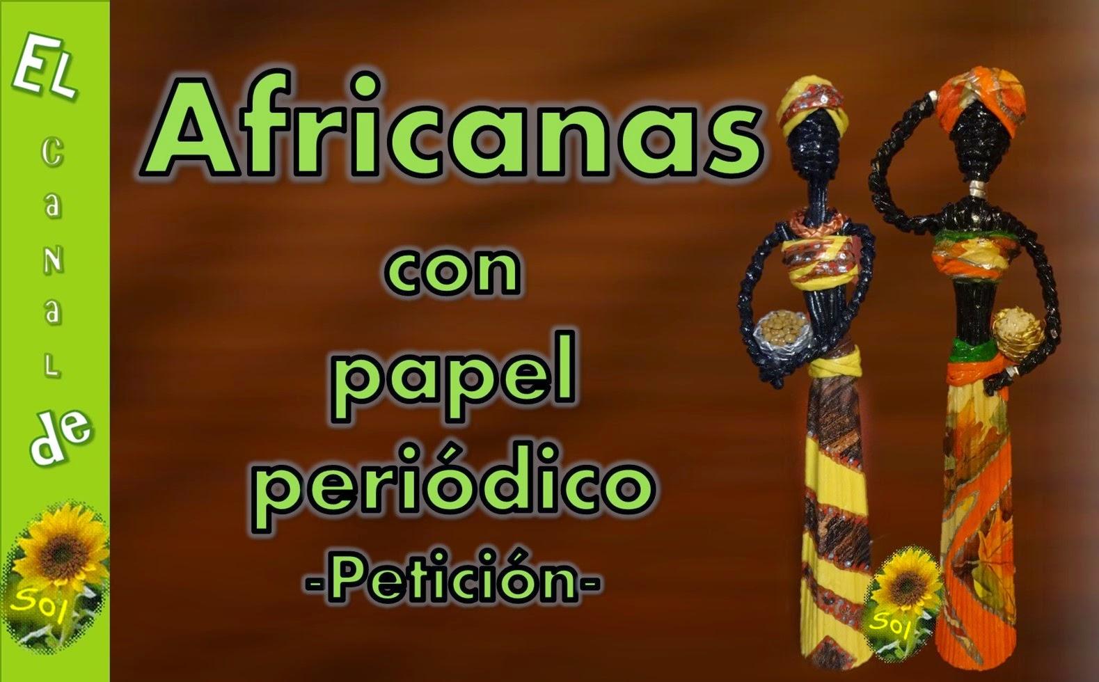 Africanas con papel de peri dico manualidades for Facilisimo com manualidades