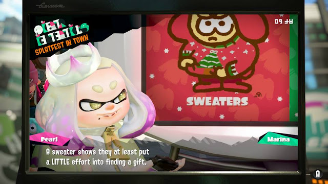 Splatoon 2 Splatfest Pearl sweaters close-up a little effort gift
