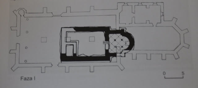 Rycina ilustrująca pierwszy kościół ufundowany na miejscu dzisiejszej kolegiaty Wiślickiej