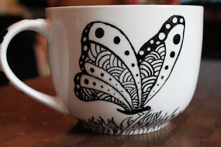 Zentangle Handmade Mugs Cups