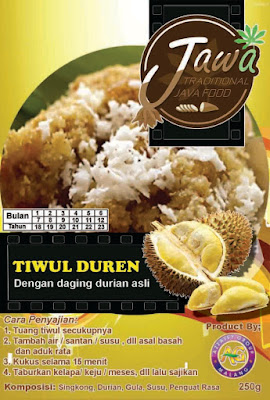 Twul Duren, Tiwul Durian, Tiwul Instan Durian, Tiwul Instan