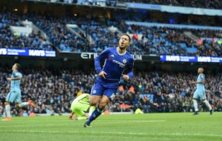 Hazard's double sends Chelsea to third place in Premier League