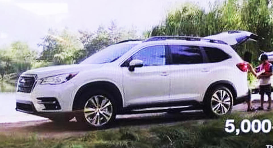 2019 subaru ascent first photo of the production 7 seater suv. Black Bedroom Furniture Sets. Home Design Ideas