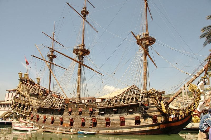 Pirate ship Neptune Italy tourist