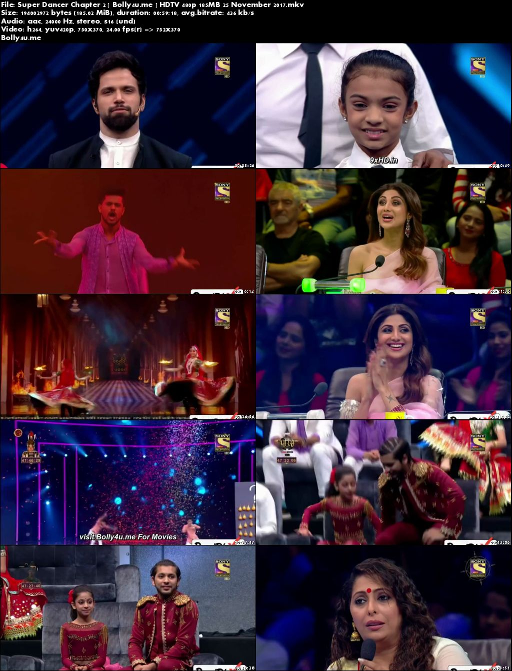 Super Dancer Chapter 2 HDTV 480p 180MB 25 November 2017 Download