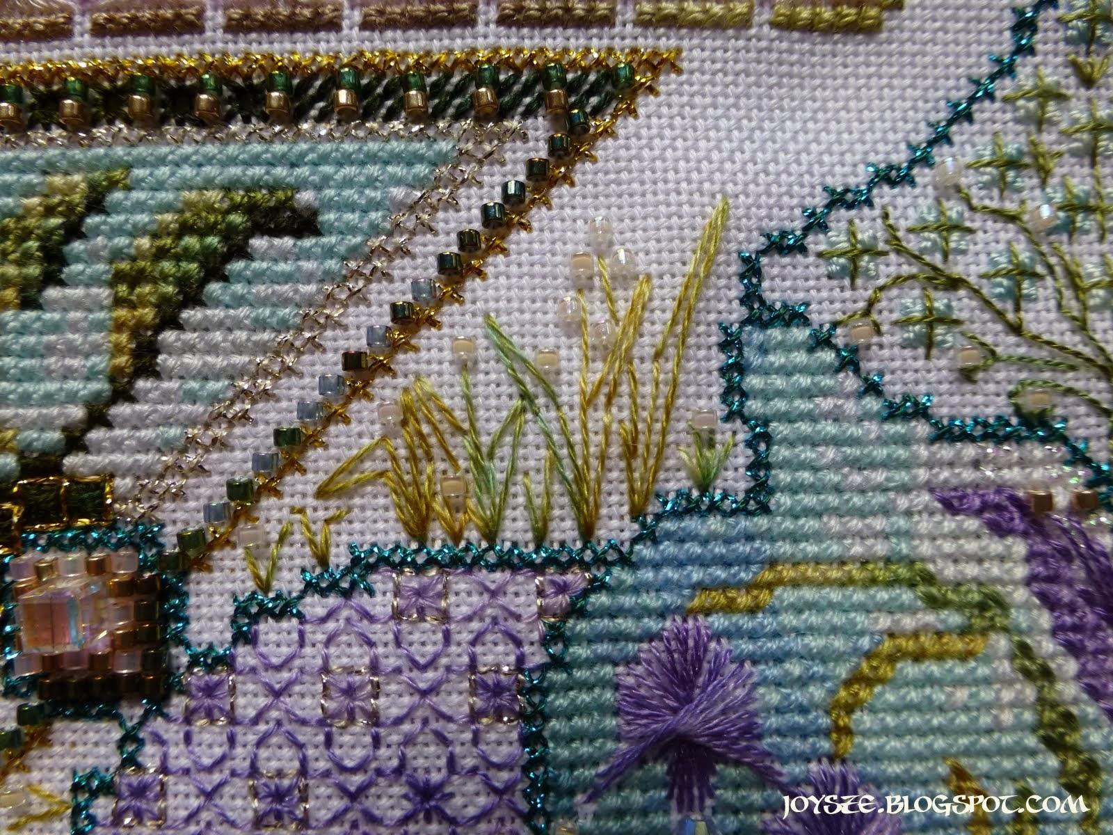 Châtelaine Stitchers Spring Knotgarden Finished