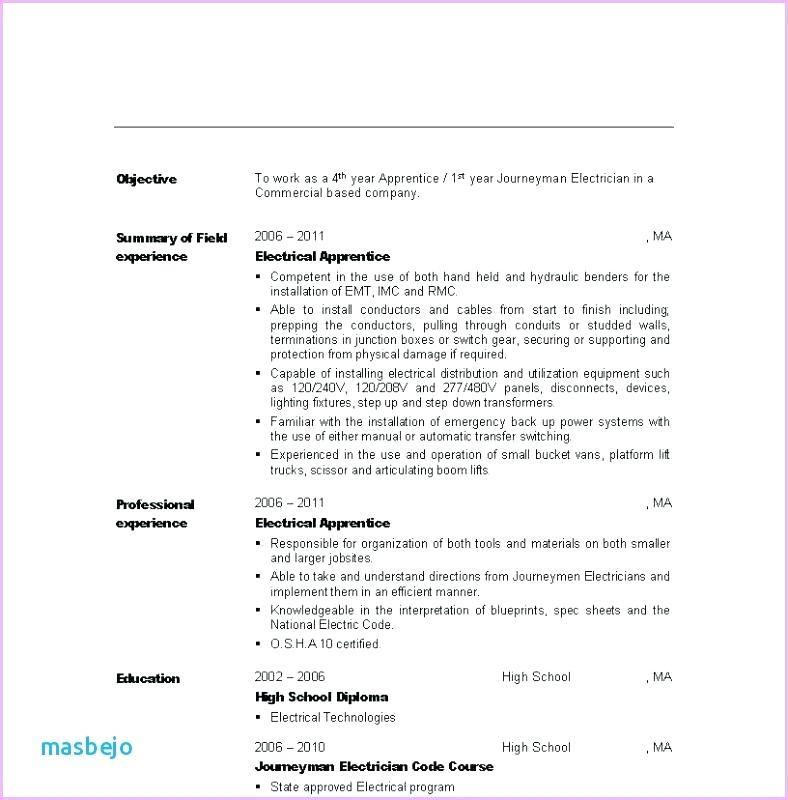 Maintenance Electrician Resume - Lebenslauf Vorlage Site
