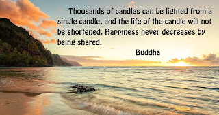 thousands of candles can be lighted from a single candle - happiness quotes