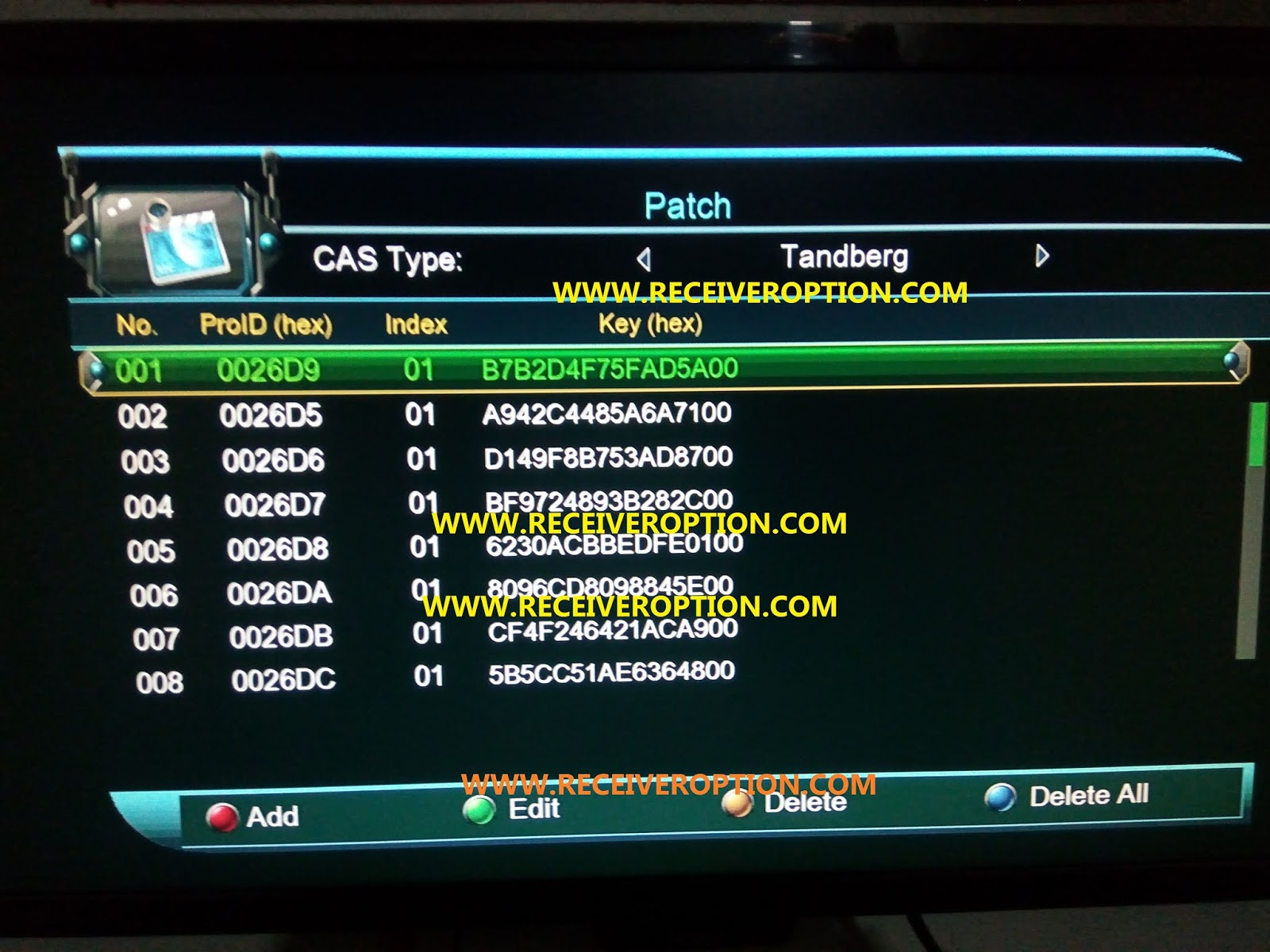 HOW TO UPDATE TANDBERG SOFTCAM KEY FILE IN MULTIMEDIA 1506G/F HD