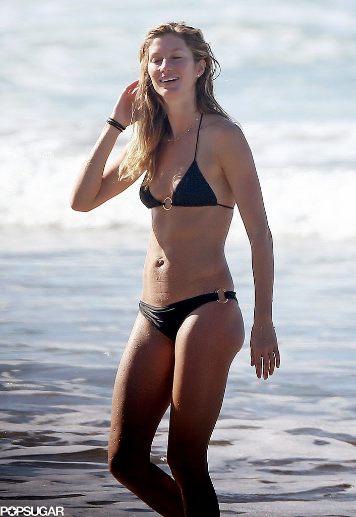 Gisele Bündchen Shows Off Her Backside in Barely There Bikini Bottoms