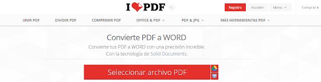 convertir un archivo pdf a word