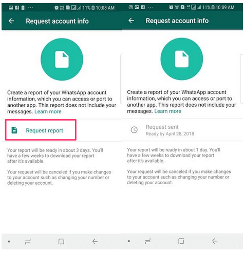 Cara Download Informasi Data Akun WhatsApp
