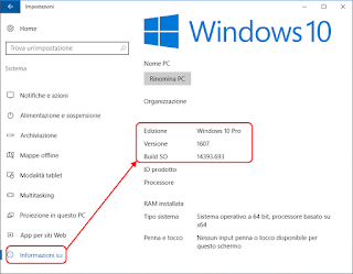 Versione di Windows 10