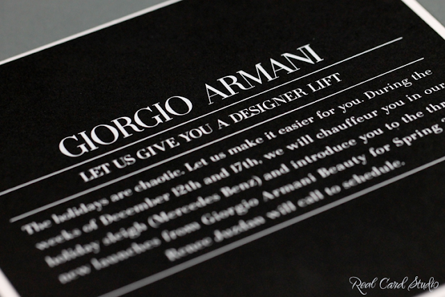 White foil printing, black card, square