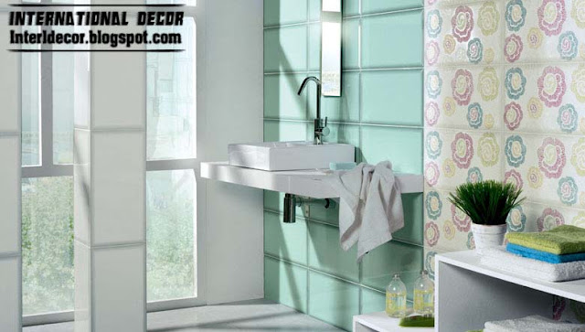 Turquoise Decorating Ideas For Apartments Bathrooms: Contemporary Turquoise Bathroom Tiles Designs Ideas