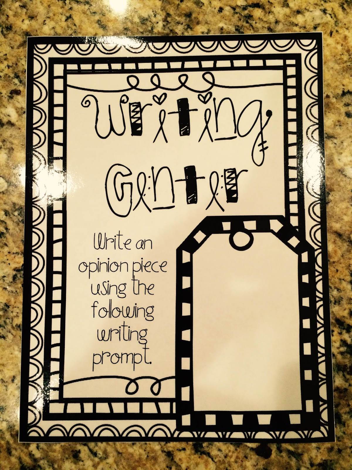 Teaching With Terhune: Writing Prompt Task Cards