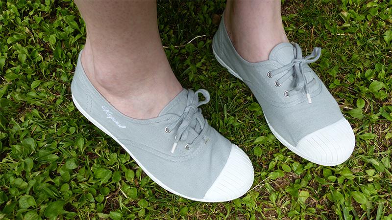 sneakers basses Vickano gris kaporal
