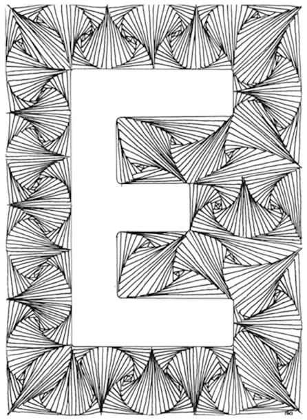 Volwassen Kleurplaten Letters.Moeilijke Kleurplaten Letters Nvnpr