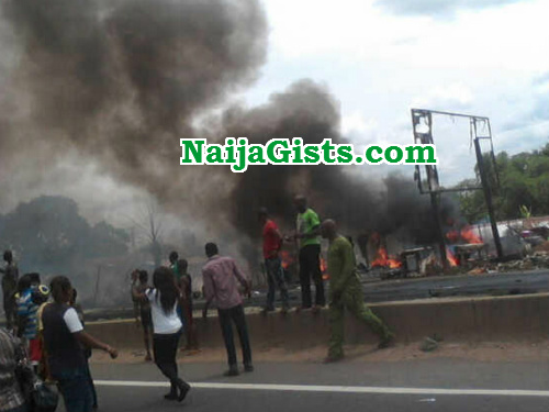 truck driver burnt death benin