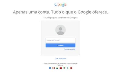 Como fazer login no Google Plus