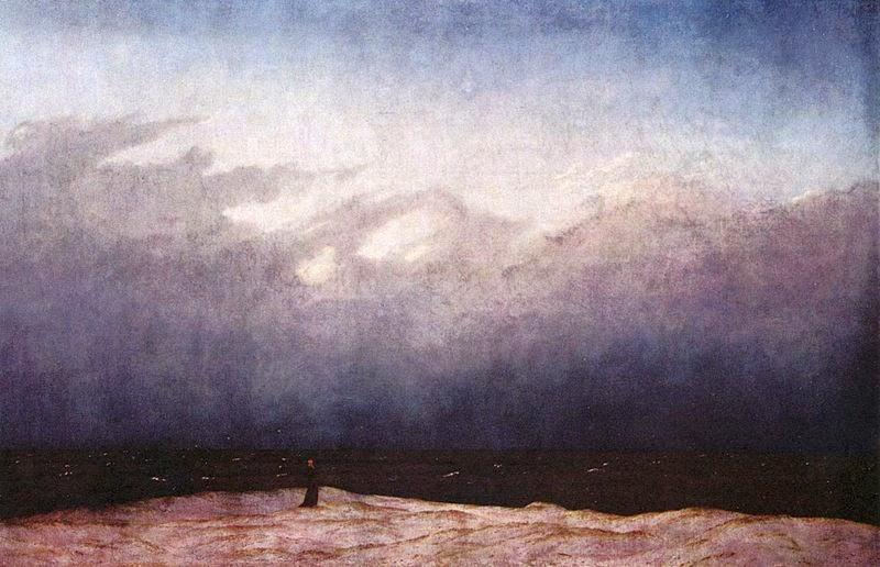 Caspar David Friedrich Bruma sobre el mar