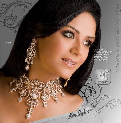 Gold and Diamond jewellery designs: malani jewellers ad