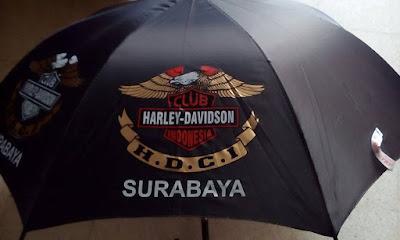 Sablon Payung HARLEY DAVIDSON CLUB SURABAYA