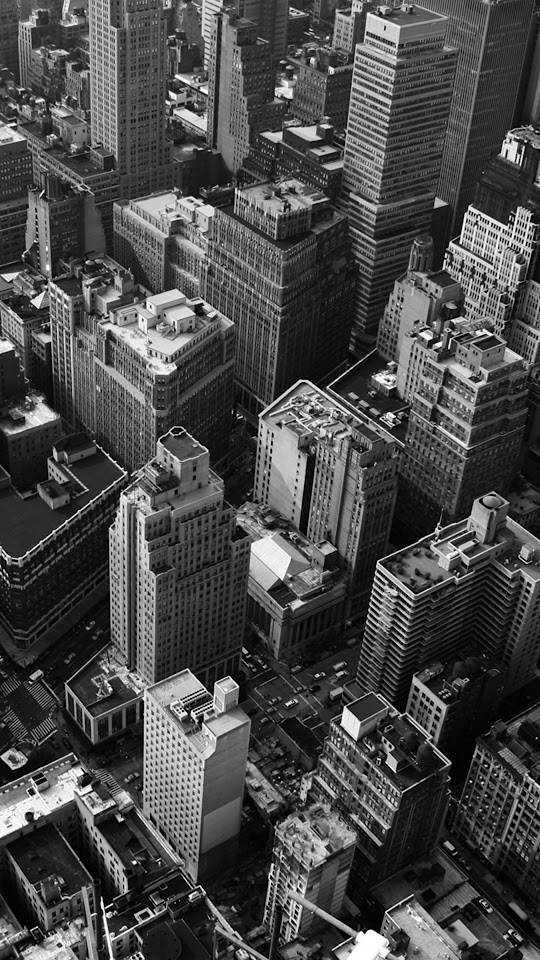Looking Down New York City Grayscale  Galaxy Note HD Wallpaper