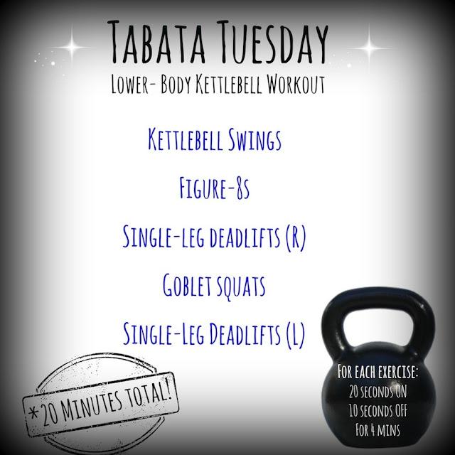 20 Minute Full Body Kettlebell Shred: Tabata Tuesday: The Kettlebell Edition