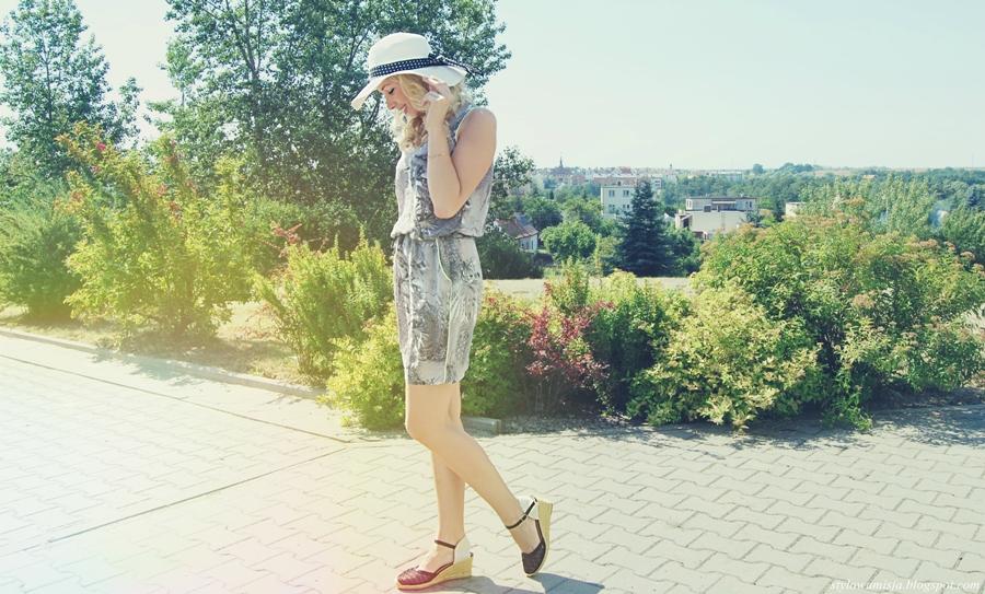 espadryle, kapelusz, lato, moda, sukienka, Zaps,