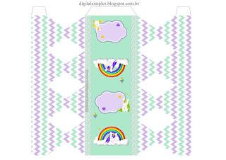 Lovely Unicorns: Free Printable Boxes.