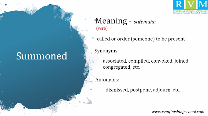 """Word Of The Day """"Summoned"""""""