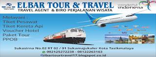 Alamat dan Telepon ELBAR Tour & Travel Tasikmalaya